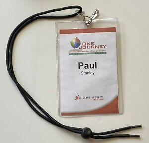 KISS Band PAUL STANLEY Personal Worn Pass 2002 One Journey Conference w/ Lanyard