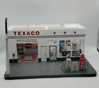 Danbury Mint 1/24 Scale Vintage Texaco Gas Station Display Authentic Detailed