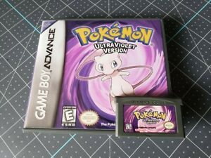 Pokemon Ultra Violet Mod - Game and Case Gameboy Advance GBA Tested and Works