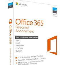 Logiciel de bureautique MICROSOFT Office 365 Personnel Neuf...