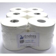 12 Rollen Jumbo-Toilettenpapier 2-lag. 170 mtr. hochweiss Zellstoff Großrolle
