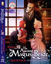 DVD ANIME The Ancient Magus' Bride / Mahoutsukai no Yome Vol.1-24 End + FREE DVD