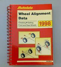 Autodata Wheel Alignment Data 1998 Manual - Excellent Condition.