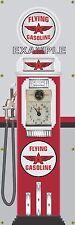 "Flying ""A"" Old Tokheim Vintage Clockface Gas Pump Banner Sign Mural Art 2' X 6'"
