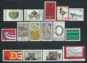 Germany #1(1) 1970's GERMANY 1976-77 SMALL COLLECTION OF 15 DIFFERENT Used