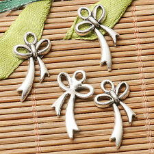 30pcs dark silver color butterfly bow knot design charms  EF2851