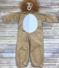 Unbranded Unisex Toddler Plush Lion Costume Hooded Zip Front Pretend Play Size M