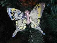 Swallowtail Feather Butterfly - Pale Yellow - 8.0cm wingspan
