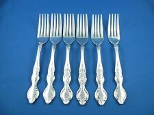 6 VINTAGE RODD BALMORAL ENTREE  FORKS   SILVER  PLATE IN  EXCELLENT CONDITION