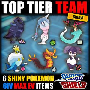 Pokemon Sword and Shield ⚔️ FULL BATTLE READY TEAM 🛡️ 6IV SHINY