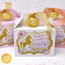Unicornio Personalizado De Flores Pétalos sorpresa Fiesta Regalo Caja Bolsa almuerzo de cumpleaños