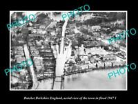 OLD LARGE HISTORIC PHOTO DATCHET BERKSHIRE ENGLAND AERIAL VIEW TOWN FLOOD 1947 2