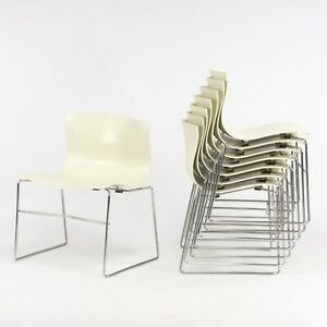 1992 Knoll Handkerchief Stacking Chairs by Massimo & Lella Vignelli 16x Avail