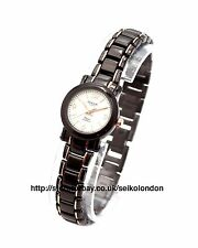 Omax Ladies White Dial Watch, Black/Rose Finish, Seiko (Japan) Movt. RRP £49.99