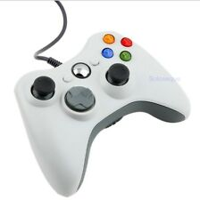 Mando & Cable USB Joystick Gamepad For Xbox 360 Microsoft PC Windows 7 Blanco HQ