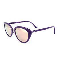 8a87d3fcf45 RAY-BAN TECH LIGHT-RAY CATEYE SUNGLASSES RB4250 60342Y VIOLET COPPER MIRROR  52mm