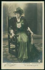 Darcourt Theater theatre fashion Edwardian lady original 1910s photo postcard