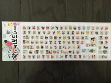 Cute Bear Computer Keyboard Sticker for Korean & English