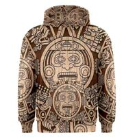 Aztec Mayan Calendar Sublimation Men's Pullover Hoodie Size S-3XL Free Shipping