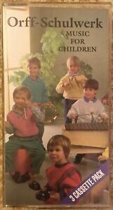 3 Cassette Pack Orff Schulwerk Music For Children by Carl Orff & Gunild Keetman