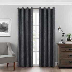 Eclipse Blackout 84-Inch Grommet Room-Darkening Window Curtain Panel (1) in Teal