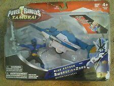 Power Rangers Samurai Blue Ranger SwordfishZord Action Figure! Bandai NIB