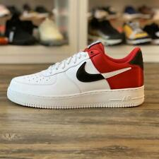 Nike Air Force 1 '07 Gr.45,5 weiß rot BQ4420 600 Classic Turnschuhe Herren Schuh
