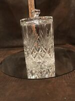 Cut Crystal Biscuit Barrel Jar / Fan Diamond cuts Bohemia Crystal 24% Czech Rep