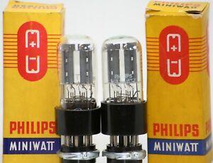 6SN7 TUBE PAIR NOS NIB PREAMP TUBES GTA GTB PHILIPS B65 VT-231 ECC33 VALVE BLACK
