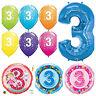 Âge 3 - Joyeux 3e Anniversaire Qualatex Ballons { Hélium Fête Garçon / Fille }