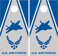 US AIR FORCE Fighter Jet Custom Cornhole Skin Wrap set 3M Laminated Vinyl