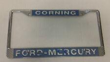Corning CA Ford Mercury metal license plate frame embossed dealership holder tag