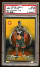 PSA 10 DWYANE WADE RC #D 99/99 1/1 GOLD REFRACTOR LAST ONE MADE 2003 TOPPS  HEAT