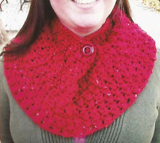 Crochet Pattern ~ Ladies Buttoned Cowl ~ Instructions