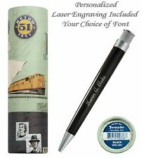 Personalized Retro 51 #VRR-1301 / Black Tornado Pen / Your Choice of Font