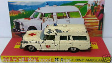 Lesney MATCHBOX Diecast KING SIZE K-6 BENZ BINZ AMBULANCE & Custom Box Display c