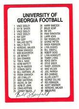 BILL STANFILL SIGNED GEORGIA BULLDOGS FOOTBALL CARD DECEASED