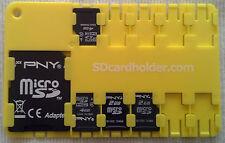 The Original Yellow micro SD Card Holder Storage Wallet Case  SD/SDHC/SDXC USA