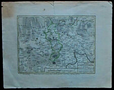 Landkarte von Teplitz, Kupferstich, altkoloriert,ca.1775, Druck:Schreibers Erben