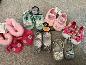 New With Tags. Baby Girl Shoe Bundle. Sizes On Individual Pictures. 6 Pairs