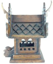 Mini Wood Thai Spirit Temple Monk Handcraft Made for Hand Buddhist House Small