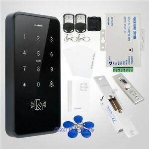 Waterproof Touch Keypad ID Access Control System+Electric Strike Lock