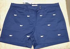 VINEYARD VINES  Ladies Dayboat Classic Shorts  NAVY EMBROID WHALE Sz 10  $98 NWT
