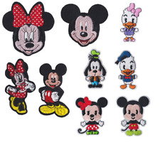 NEW! Mickey Mouse and friends iron on embroidery patches choose from 9 Designs