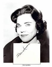 Ask Ann Landers Autograph Newspaper Columnist Chicago Times Esther Lederer #1