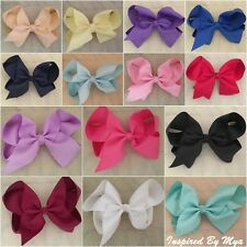 "Girls Hair Bow Clip Womens Bow Large 6"" School Dance Party Hair Accessories Big"
