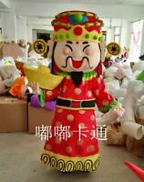Chinese New Year God Of Wealth Fortune Mascot Costume Adults Cosplay Fancy Dress