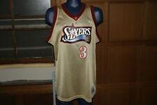 NBA Mitchell & Ness NBA Philadelphia Seventy Sixers Allen Iverson Gold Jersey 2X