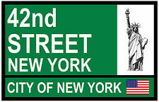 STREET / ROAD SIGNS (42nd ST, NEW YORK) - SOUVENIR NOVELTY FRIDGE MAGNET - GIFT