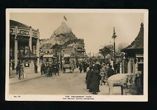 BRITISH EMPIRE EXHIBITION Amusement Park nice busy scene 1924 RP PPC